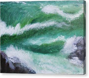 Canvas Print featuring the painting A Mermaid by Trilby Cole