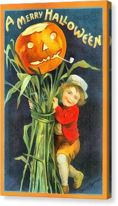 A Merry Halloween Canvas Print