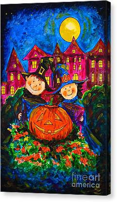 A Merry Halloween Canvas Print by Zaira Dzhaubaeva