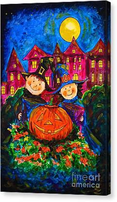 A Merry Halloween Canvas Print by Zaira Dzhaubaeva