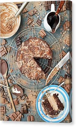 A Mess Of Chocolate Canvas Print