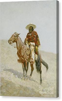 A Mexican Vaquero Canvas Print