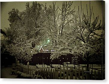 A Mid Winter's Night Canvas Print by Mick Anderson