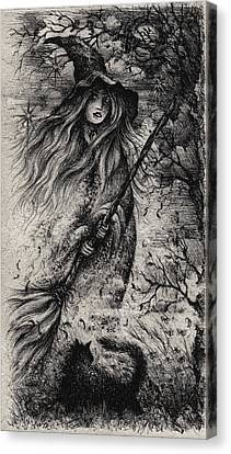 Canvas Print - A Midnight Incantation by Rachel Christine Nowicki