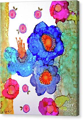Canvas Print featuring the painting A Midsummer Dream II by Priti Lathia