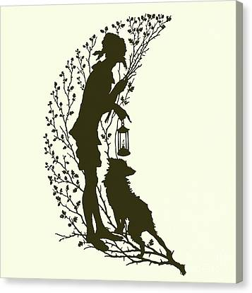 A Midsummer Night's Dream, Silhouette  Canvas Print by Paul Konewka