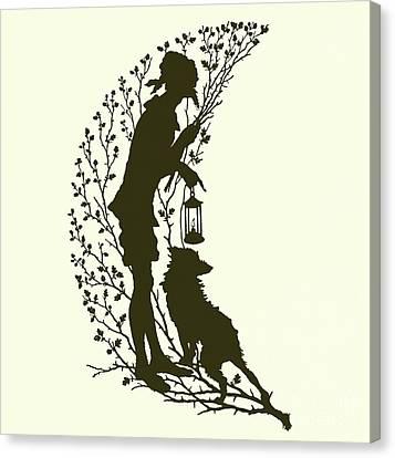 A Midsummer Night's Dream, Silhouette  Canvas Print