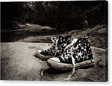 Canvas Print featuring the photograph A Mile In My Shoes by Jessica Brawley