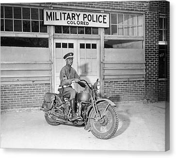 A Military Police Officer Posed Canvas Print by Everett