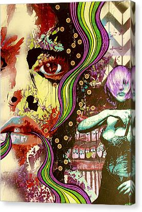 A Mind Is A Terrible Thing To Taste Canvas Print by Bobby Zeik