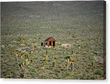 A Miner's Shack Canvas Print by Nature Macabre Photography