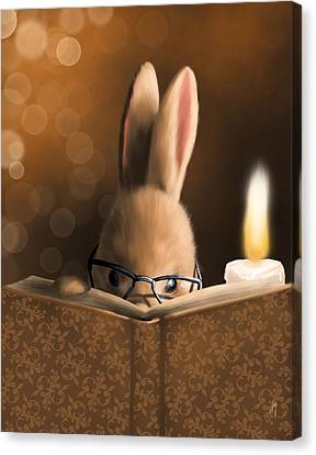 Candle Lit Canvas Print - A Mystery Story by Veronica Minozzi