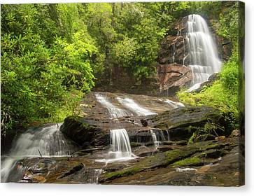 Upper Sols Creek Falls Canvas Print by Renee Hattenstein