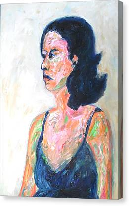 Canvas Print featuring the painting A Modern Madame Bovary by Esther Newman-Cohen