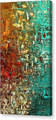 Canvas Print featuring the painting A Moment In Time - Abstract Art by Carmen Guedez