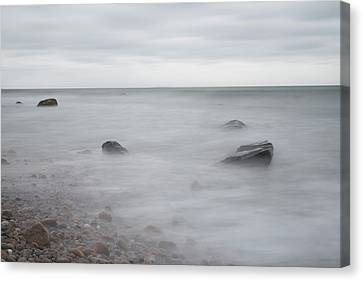 Canvas Print featuring the photograph A Moment In Time On The Beach by Andrew Pacheco