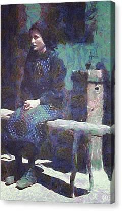 Canvas Print featuring the digital art A Moment Of Meditation by Gun Legler