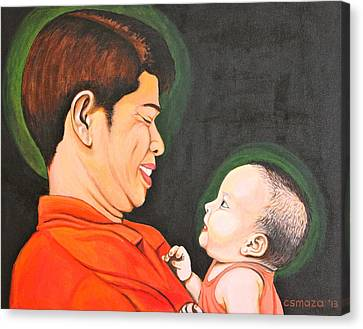 Pinoy Canvas Print - A Moment With Dad by Cyril Maza