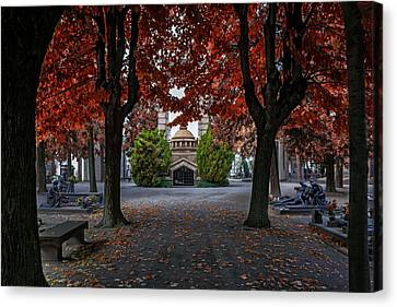 Rust Canvas Print - A Monumental Autumn In Milan Italy by Carol Japp