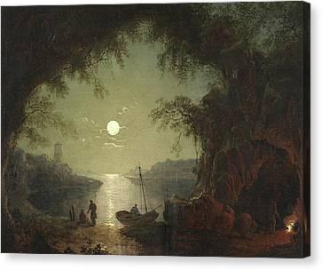 A Moonlit Cove Canvas Print by Sebastian Pether