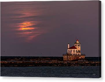 A Moonsetting Sunrise Canvas Print