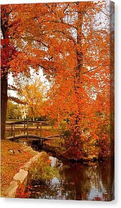 A Morning In Autumn - Lake Carasaljo Canvas Print