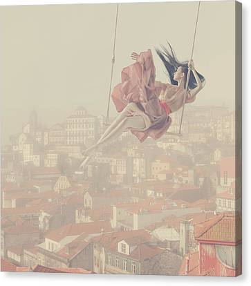 a morning over Oporto Canvas Print by Anka Zhuravleva