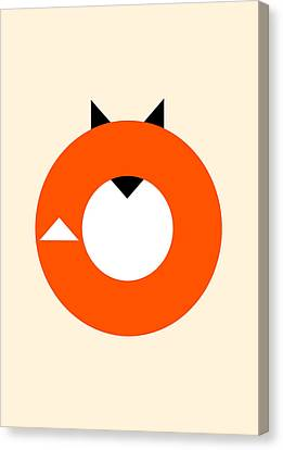 A Most Minimalist Fox Canvas Print by Nicholas Ely