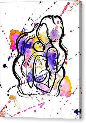 A Mother's Love Canvas Print by Diamin Nicole