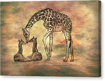 A Mothers Love Canvas Print by Jack Zulli