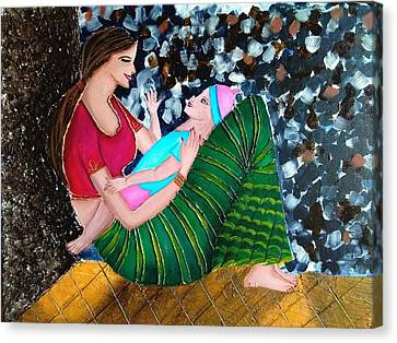 Aging Canvas Print - A Mother's Love by Sweety Lohani