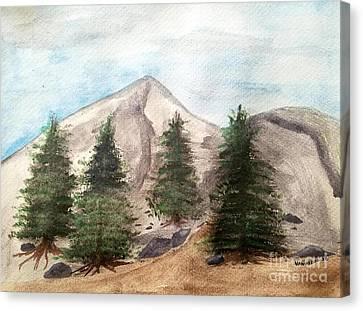 A Mountain Road Canvas Print by Scott D Van Osdol