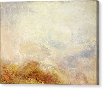 A Mountain Scene Canvas Print by William Turner