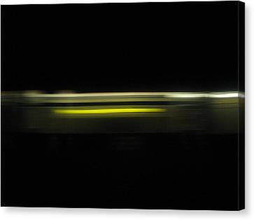 A Moving Train  Canvas Print by Hasani Blue