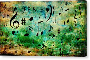 A Musical Storm 2 Canvas Print by Andee Design