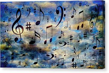 A Musical Storm 3 Canvas Print by Andee Design
