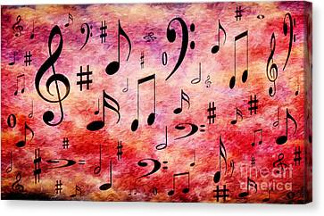A Musical Storm 4 Canvas Print by Andee Design