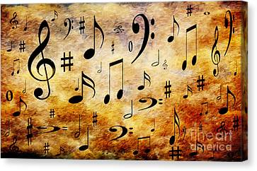 A Musical Storm Canvas Print by Andee Design