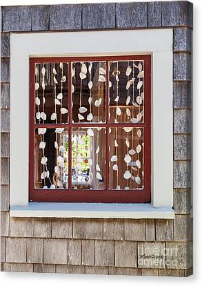 A Nantucket Window Canvas Print by Michelle Wiarda