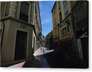 A Narrow Alley In Perpignan, France Canvas Print by Stacy Gold
