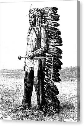 Antiquities Canvas Print - A Native American by French School