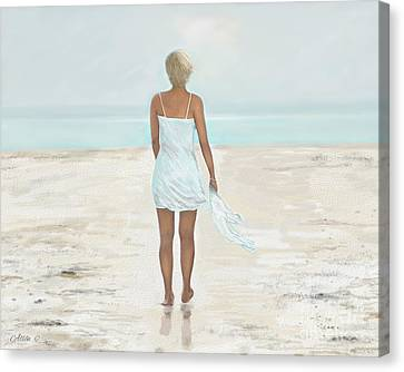 Canvas Print featuring the painting A Natural Beauty by Leslie Allen