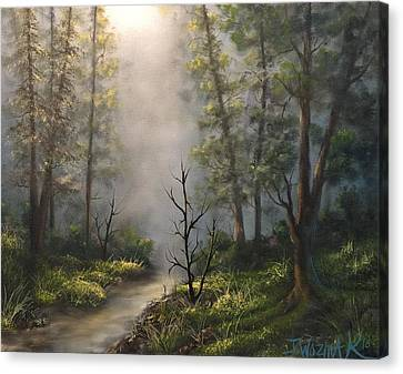A New Day  Canvas Print by Paintings by Justin Wozniak