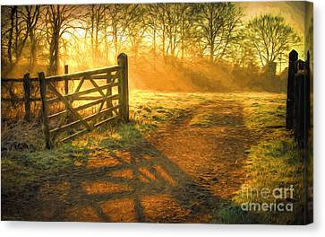 Painterly Canvas Print - A New Day by Veikko Suikkanen