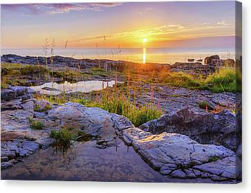 Canvas Print featuring the photograph A New Day's Born by Dmytro Korol