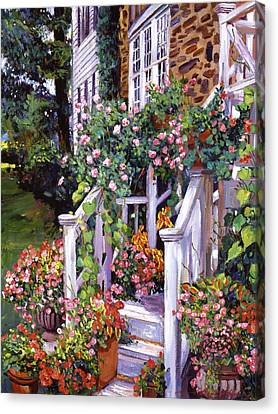 A New England Visit Canvas Print by David Lloyd Glover