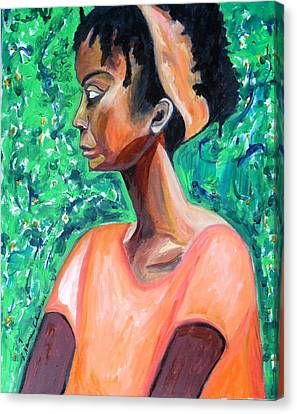 Canvas Print featuring the painting A New Queen Of Sheba by Esther Newman-Cohen