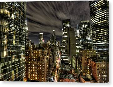 Canvas Print featuring the photograph A New York City Night by Shawn Everhart
