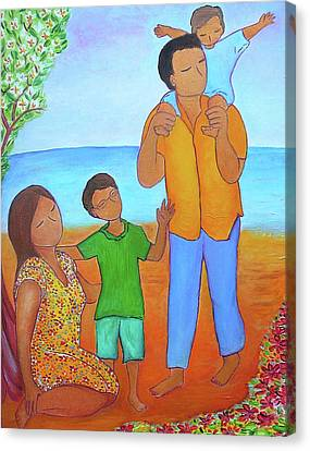 A Nice Family Of Four Canvas Print