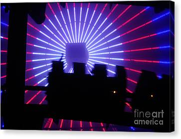 A Night At Santa Monica Pier Canvas Print by Clayton Bruster